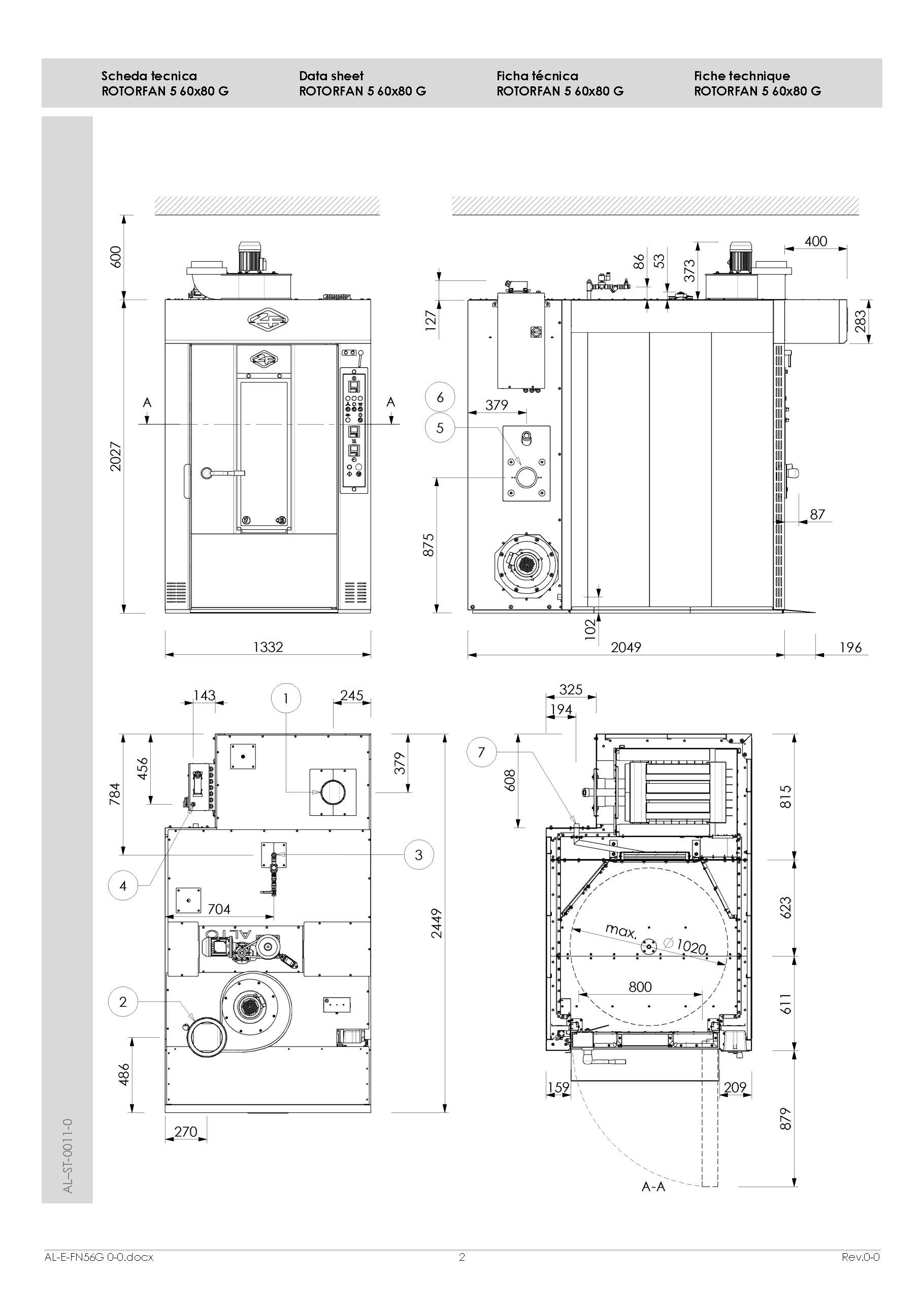 rack oven dimensions